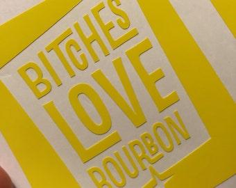 Bourbon Decal, love bourbon
