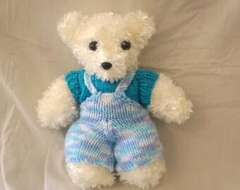 Billy Handmade Knitted Dressed Teddy Bear Soft Stuffed Toy