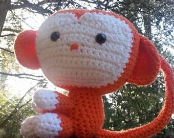 handmade crochet monkey toy