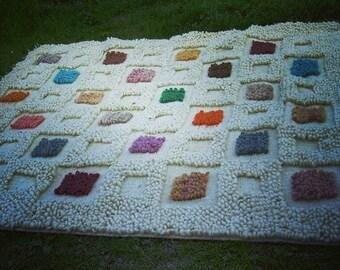 Super natural 100% merino wool carpet