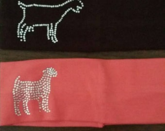 Dairy Goat and Boer Goat Cotton stretch headband