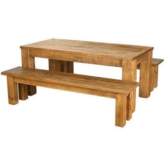Rustic Plank Furniture New Real Solid Wood Chunky Rustic Sawn