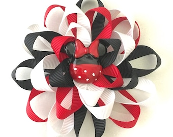 Minnie Mouse Loopy Flower Bow