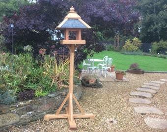 Solid Oak Bird Table