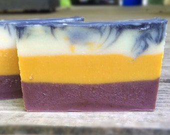 Leather Scented Soap W/ Tamanu Oil, Meadowfoam Oil, and Activated Charcoal - Man Soap
