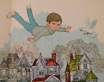 Vintage 70s Children's Book, I Wish I Could Fly, Dean Walley, Arlene Noel, Hallmark Children's Editions, Picture Book, ISBN 87529-044-2