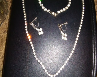 Very old costume bling jewelry set