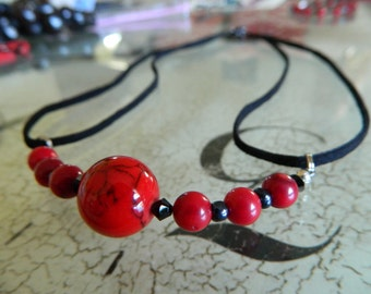 Red and Black Woman's Necklace