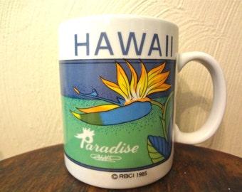 Hawaiian Bird of Paradise Souvenir Coffee/Tea Mug 1985
