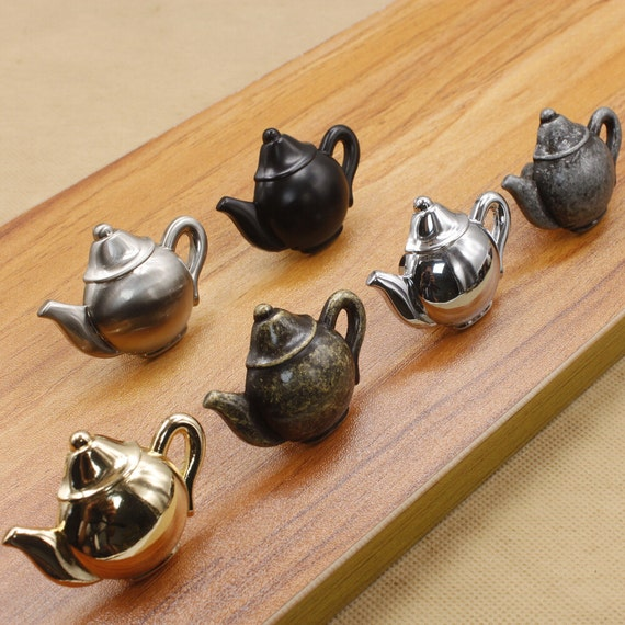 Handles For Kitchen Cabinets And Drawers: Teapot Dresser Knob Drawer Knobs Pulls Handles Kitchen Cabinet