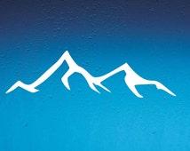 DECAL Mountain,  Vinyl Decal, Car Window Decal, Laptop Decal, Laptop Sticker, Water Bottle Decal, Bumper Sticker, Car Decal