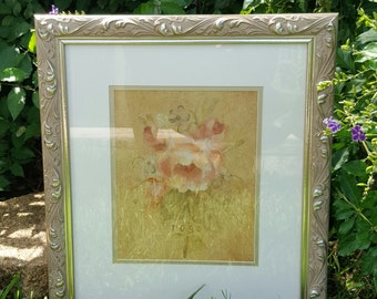 Shabby chic framed print rose print