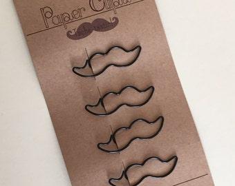 Moustache Paper Clips (Sass & Belle)