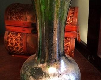 Green mercury Glass Vase