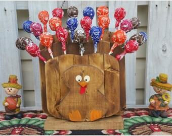Tootsie Pop Tabletop Tom Thanksgiving and Fall Turkey