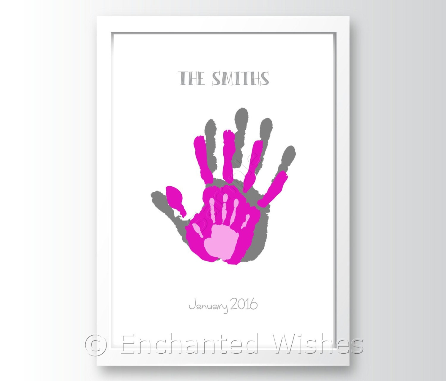 hanprint art for valentine's day - Family Handprint Art Print Hand print Child Baby
