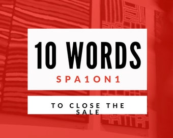 10 words/phrases to close sale