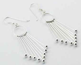 10-sticks earrings (925 steerling silver)