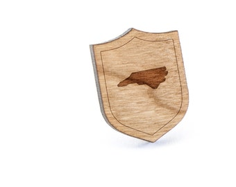 North Carolina Lapel Pin, Wooden Pin, Wooden Lapel, Gift For Him or Her, Wedding Gifts, Groomsman Gifts, and Personalized