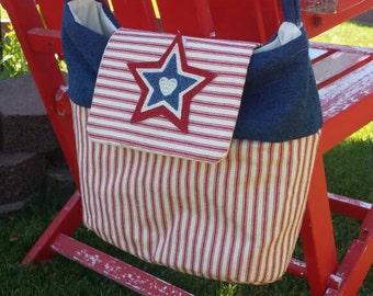 OoaK Americana patriotic crossbody shoulder bag