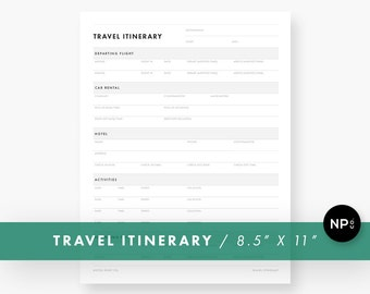 Vacation Planner Template / Travel Itinerary Planner / Printable Trip Organizer / Printable Vacation Itinerary Planner / Travel Planner PDF