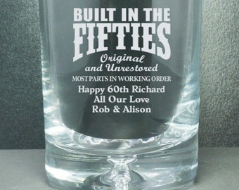 Built In The .... Personalised Whisky Glass