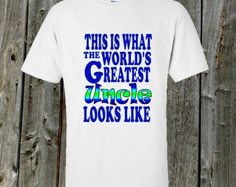 World's Greatest Uncle Tshirt