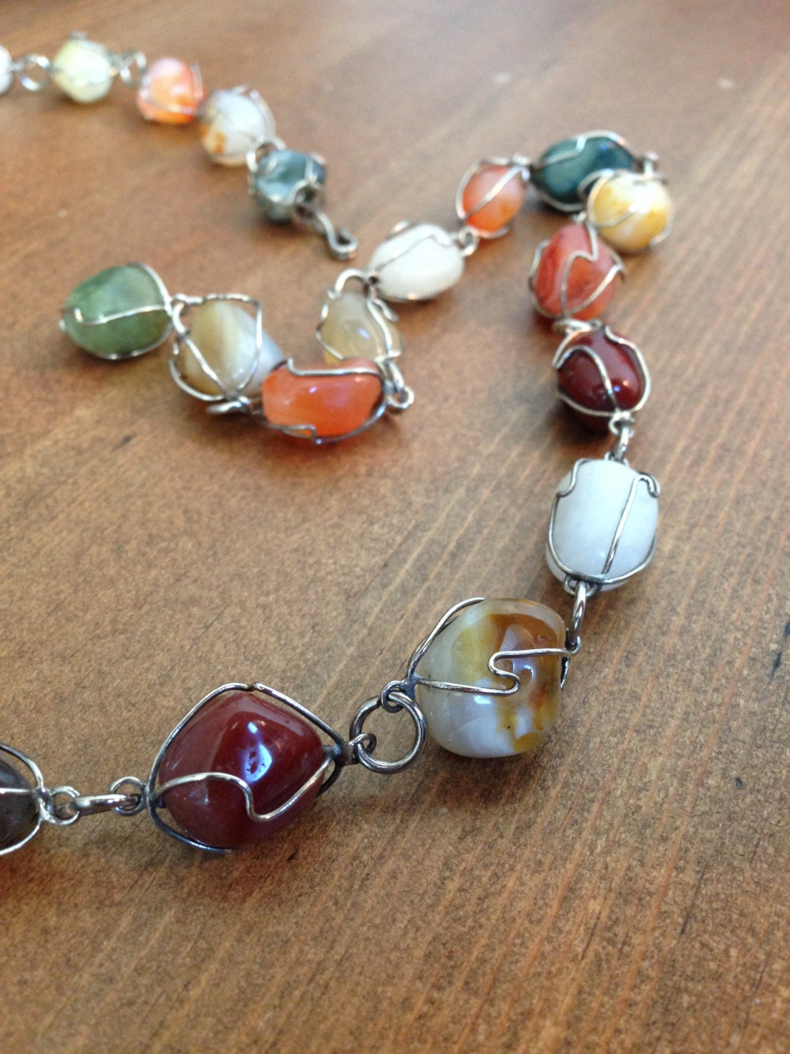 sale wire wrapped gemstone necklace