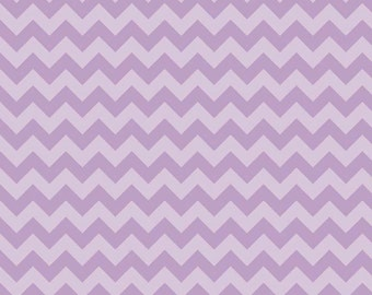 Riley Blake, Small Chevron, Tone on Tone Lavender, fabric by the yard