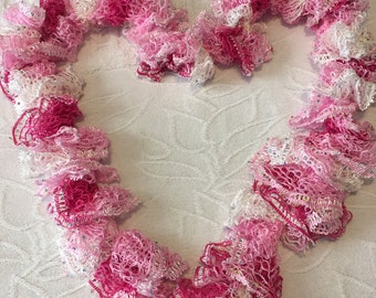 Pink Frilly Scarf