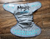 Cloth Diaper - OS Hybrid Fitted Cloth Diaper - Embroidered, One Size
