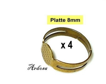 4 ring blanks bronze adjustable (245.2)