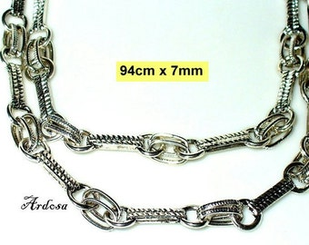 1 handmade necklace, silver, no closure 94 cm (K203. 7.1)
