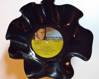 Frank Sinatra Record Bowl melted vinyl photo label Count Basie 1961 vintage