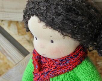 """Textile Waldorf ragdoll Barbara 14,17"""" (36 cm) MADE TO ORDER"""