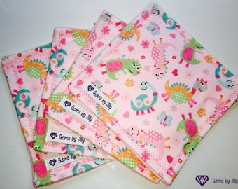 Baby Wipes - Girly Dino Set of 4