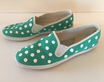 Turquoise Polka Dot Women's Keds