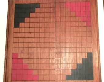 Vintage handmade wooden gameboard