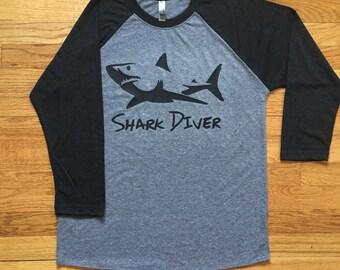 Shark Diver Raglan T-Shirt