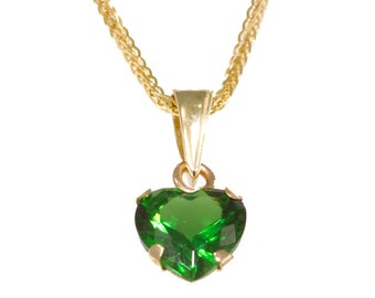 14k heart pendant. cubic zircon pendant, heart Zircon pendant, heart gold pendant, small heart pendant, 14k gold pendant, solid gold,
