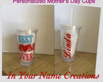 Personalized Mother's Day Tumbler-Best Mom Ever