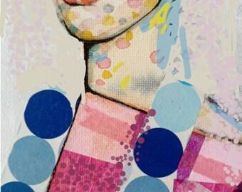 Blue dot lady