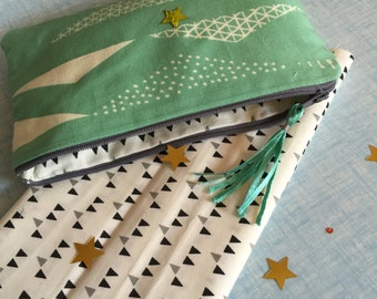 kit/cover/door Mint green and beige printed geometric trend