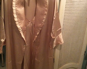 Vintage Silk Negligee and Robe, Never worn, New, Size L