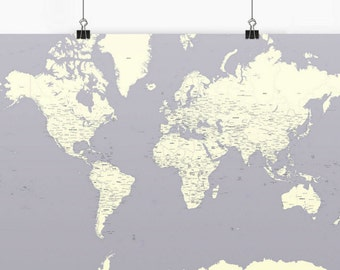 Bright World Map