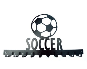Free USA Shipping Soccer Medals Display Rack 10 Hook