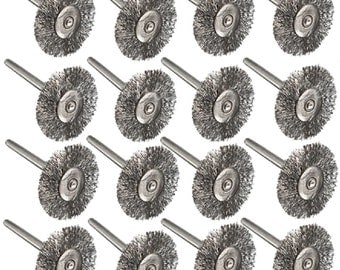 RT- 53C ;16PC Steel Wire Wheel Brushes for Dremel Accessories For Rotary Tools