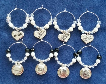 Top table set of wine glass charms.