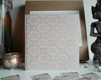 21 x 21 light pink lace effect card album