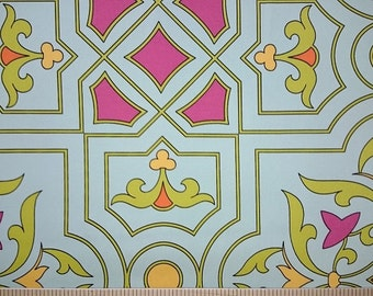 """Vicki Payne For Your Home Collection Cotton Sateen Savoy-Glass Decorator Width 54/55"""""""